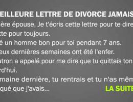 femme mari lettre divorce